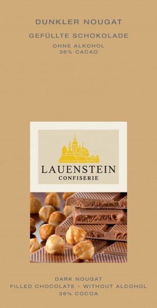 Confiserie Lauenstein Dunkler Nougat 36% Cacao