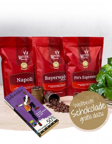 3kg Espresso Kraftpaket + weltbeste Schokolade GRATIS
