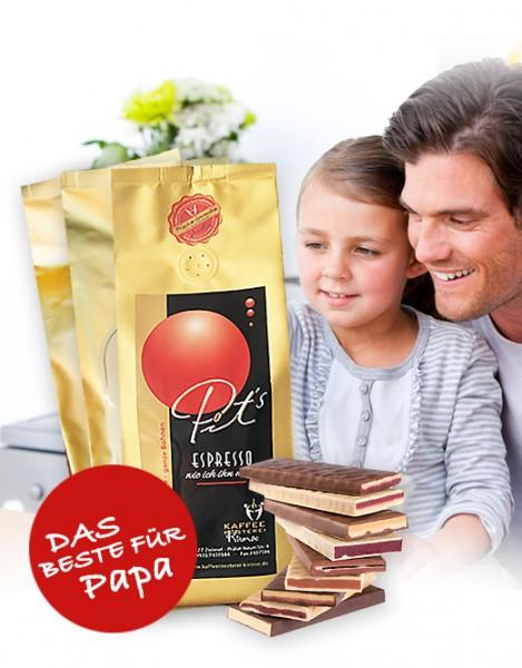 3 x 1000g Espressi + Zotter Schokolade gratis!