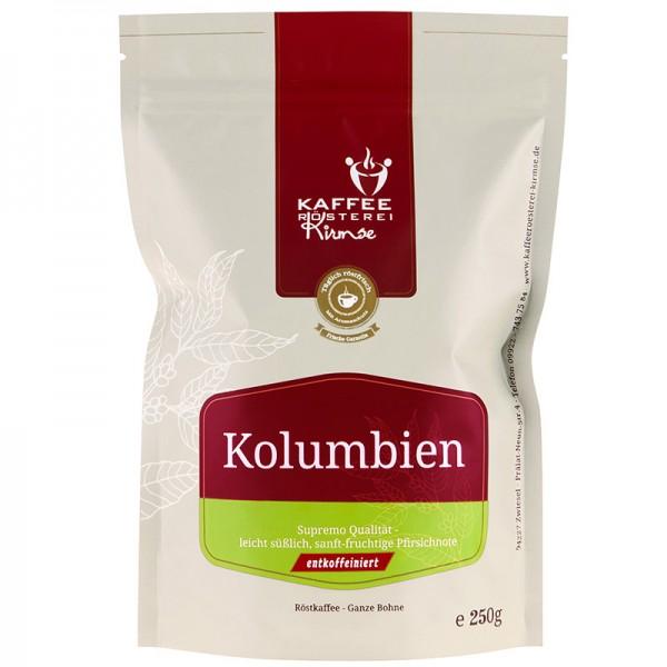 Kaffee Kolumbien entkoffeiniert 250g