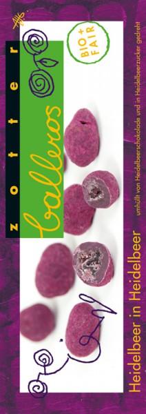 Zotter Schokolade Balleros - Heidelbeer in Heidelbeer