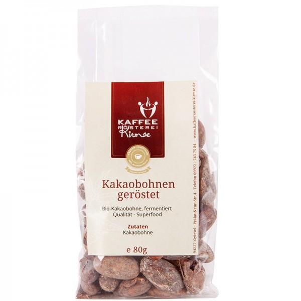 Kakaobohnen geröstet, Bio Qualität, mit Schale