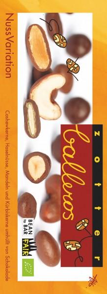 Zotter Schokolade Balleros Nussvariation- 100g