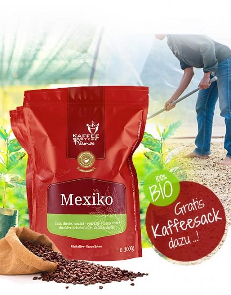 3 x 1000g Kaffee aus Südamerika + GRATIS Kaffeesack